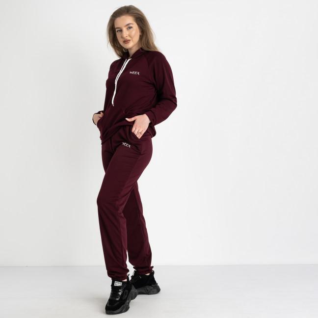 15120-4 Mishely бордовый спортивный костюм батальный из двунитки  (4 ед. размеры: 50.52.54.56) Mishely: артикул 1123817