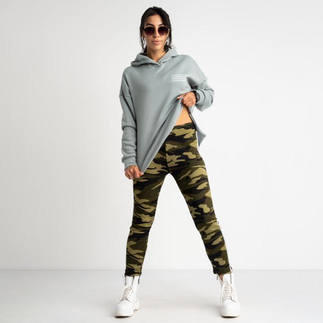 0901 Li Ruo Ya спортивные брюки женские камуфляжные на флисе (5 ед. размеры: универсал 44-48 )  Li Ruo Ya: артикул 1116928