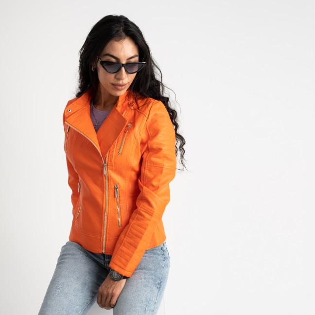 0028 MZX оранжевая куртка женская из экокожи (5 ед.размеры: S.M.L.XL.XXL) MZX: артикул 1124000