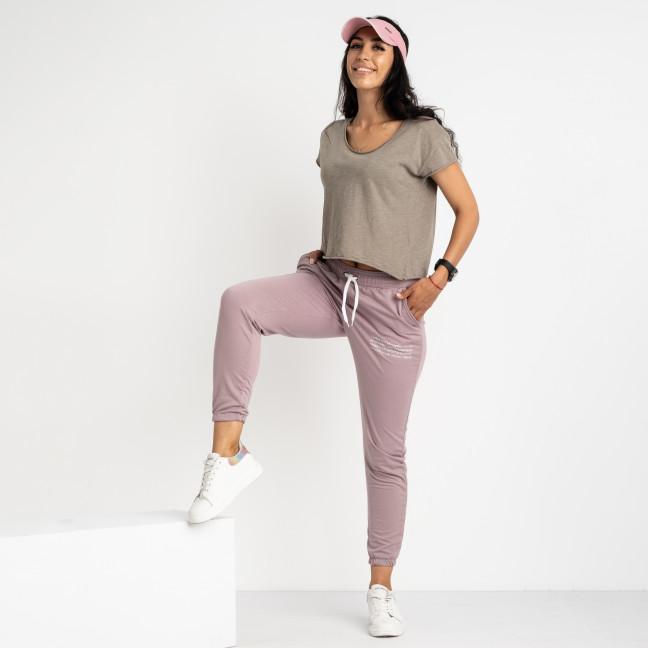 1433-17 Mishely фрезовые женские спортивные брюки из двунитки (4 ед. размеры: S.M.L.XL) Mishely: артикул 1123958