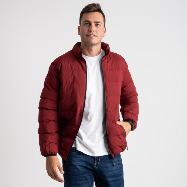 8088-2 бордовая куртка полубатальная мужская на синтепоне (6 ед .размеры : L-5XL) Куртка: артикул 1124034