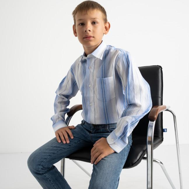 1902 Boston Public голубая рубашка в полоску на мальчика 7-15 лет (5 ед. размеры: 30/31.32/33.33/34.34/35.35/36) Boston Public: артикул 1118409