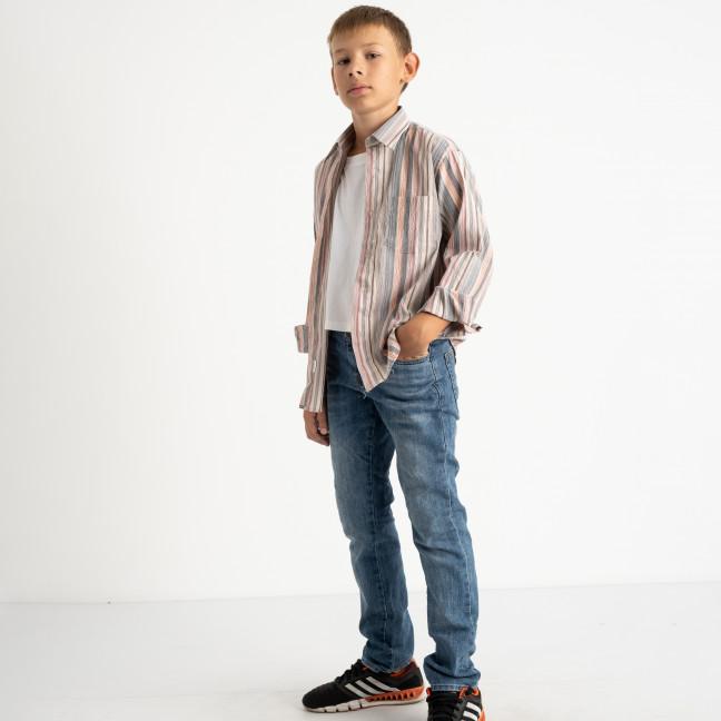 1904 Boston Public серая рубашка в полоску на мальчика 7-15 лет (5 ед. размеры: 30/31.32/33.33/34.34/35.35/36) Boston Public: артикул 1118412