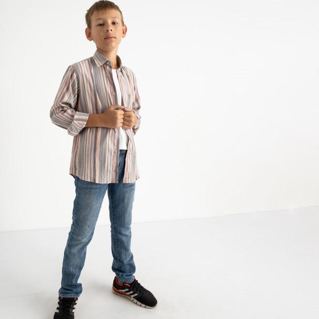 1904-01 Boston Public серая рубашка в полоску на мальчика 7-15 лет (4 ед. размеры: 30/31.32/33.34/35.35/36) Boston Public: артикул 1124373