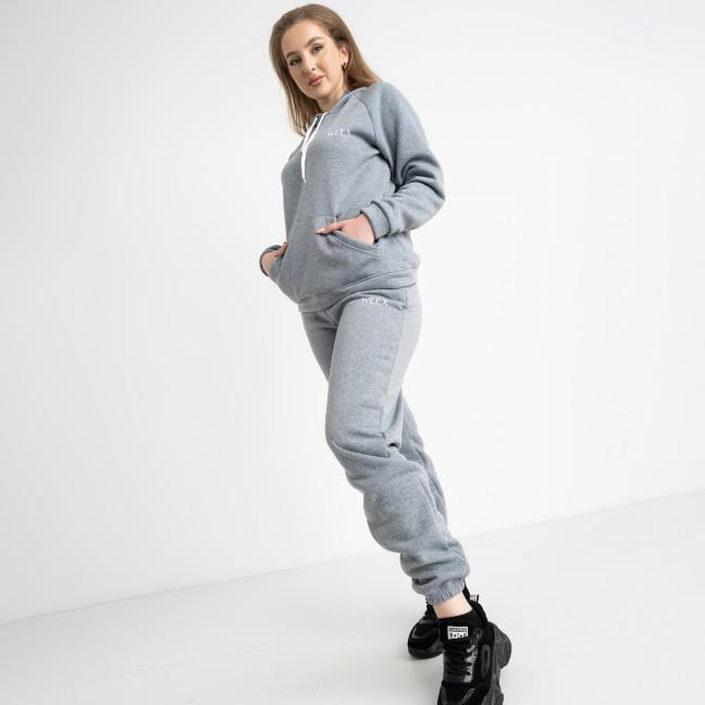 15555-8 Mishely серый спортивный костюм батальный из трехнитки на флисе (4 ед. размеры: 50.52.54.56) Mishely: артикул 1124208