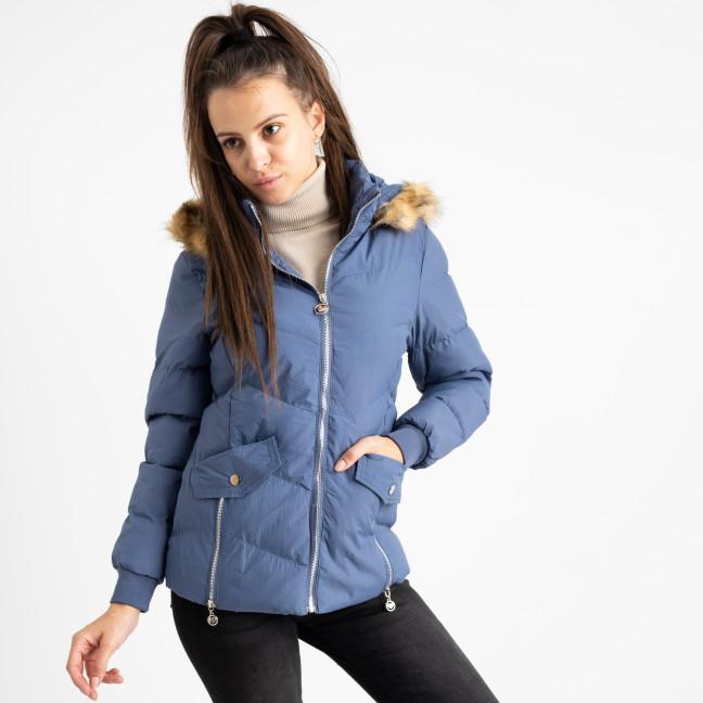 6936-2 куртка голубая женская на синтепоне (6 ед. размеры: M.L.2XL/2.3XL.4XL) Куртка: артикул 1124257