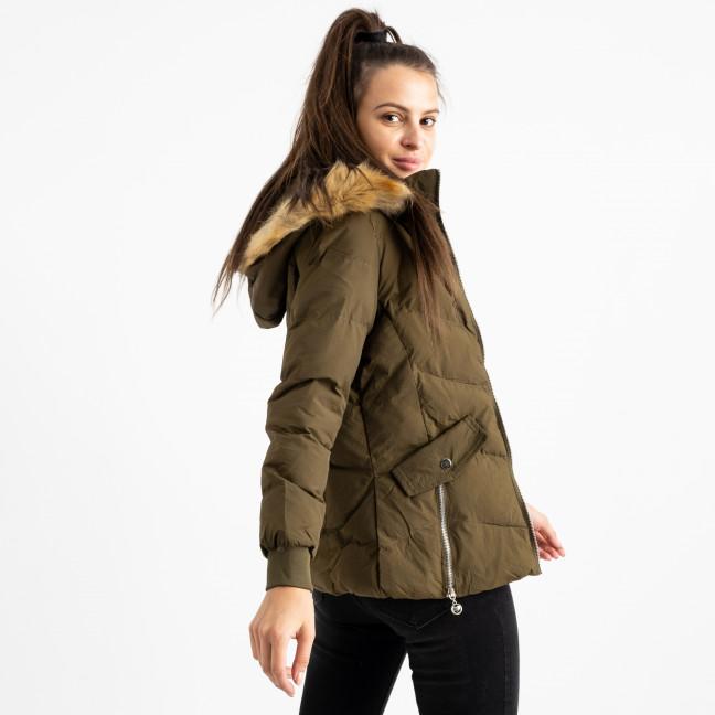 6936-4 куртка хаки женская на синтепоне (6 ед. размеры: M.L.2XL/2.3XL.4XL) Куртка: артикул 1124259