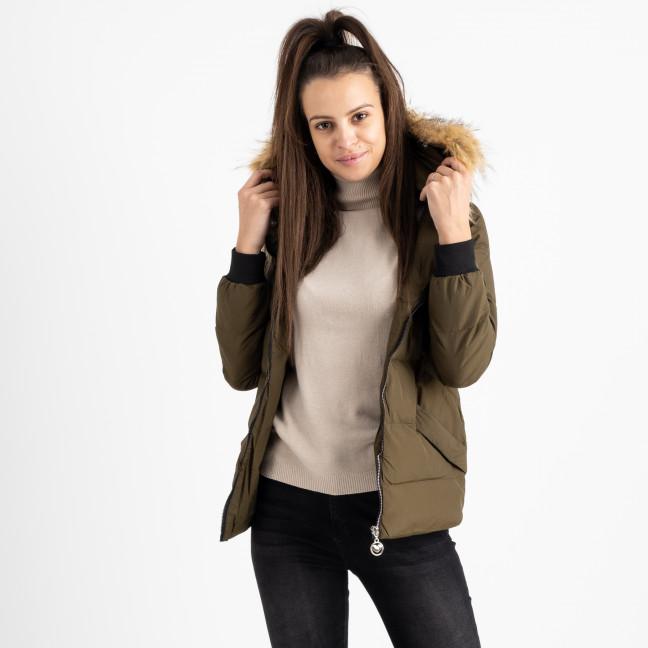 6937-4 куртка хаки женская на синтепоне (6 ед. размеры: M.L.2XL/2.3XL.4XL) Куртка: артикул 1124263