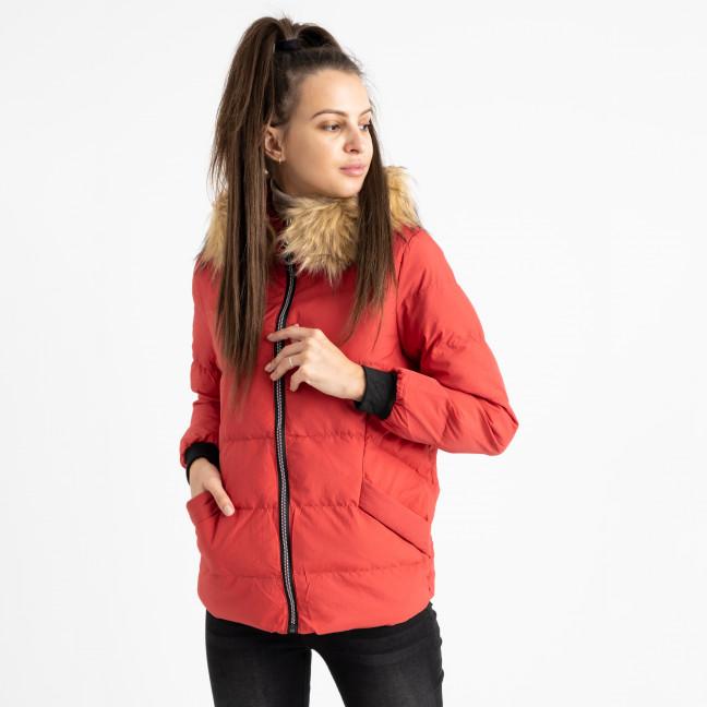 6937-3 куртка красная женская на синтепоне (6 ед. размеры: M.L.2XL/2.3XL.4XL) Куртка: артикул 1124262