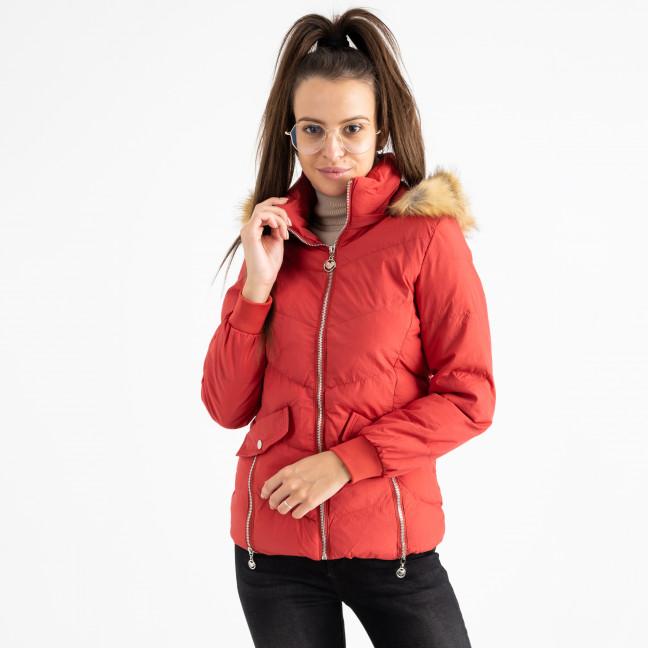 6936-3 куртка красная женская на синтепоне (6 ед. размеры: M.L.2XL/2.3XL.4XL) Куртка: артикул 1124258