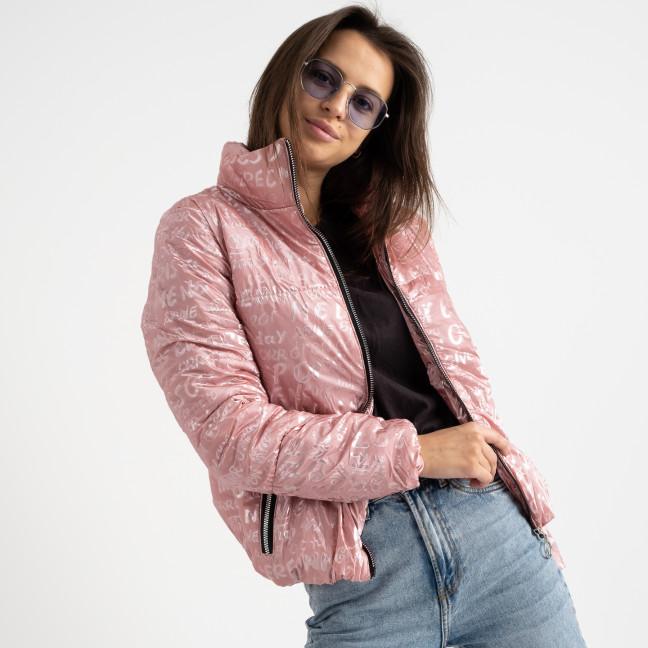 0350-4 розовая куртка-зефирка с буквами ( 3 ед. размеры: 42.44.46) Куртка-зефирка: артикул 1124350