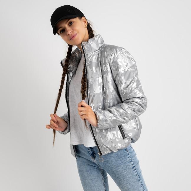 0350-7 серебрянная куртка-зефирка с буквами ( 3 ед. размеры: 42.44.46) Куртка: артикул 1124413