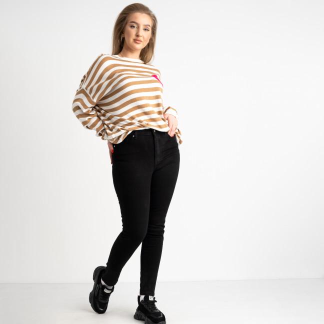 0831-6 A Relucky джинсы женские черные полубатальные стрейчевые на байке (6 ед. размеры: 28.29.30.31.32.33) Relucky: артикул 1124427