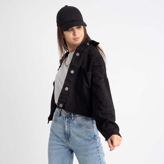 0211 Defile черная джинсовая куртка женская котоновая (8 ед. размеры:S/2.M.L) Defile: артикул 1124449