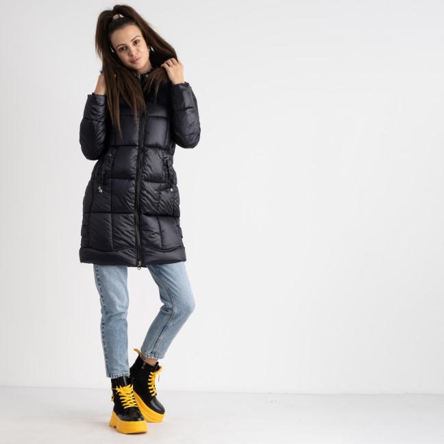1983-2 темно-синяя куртка женская на синтепоне (5 ед.размеры: M.L.XL.2XL.3XL) Куртка: артикул 1124526