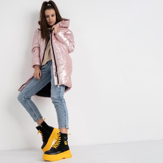 0922-2 розовая куртка женская на синтепоне (4 ед.размеры: M.L.XL.2XL) Куртка: артикул 1124561