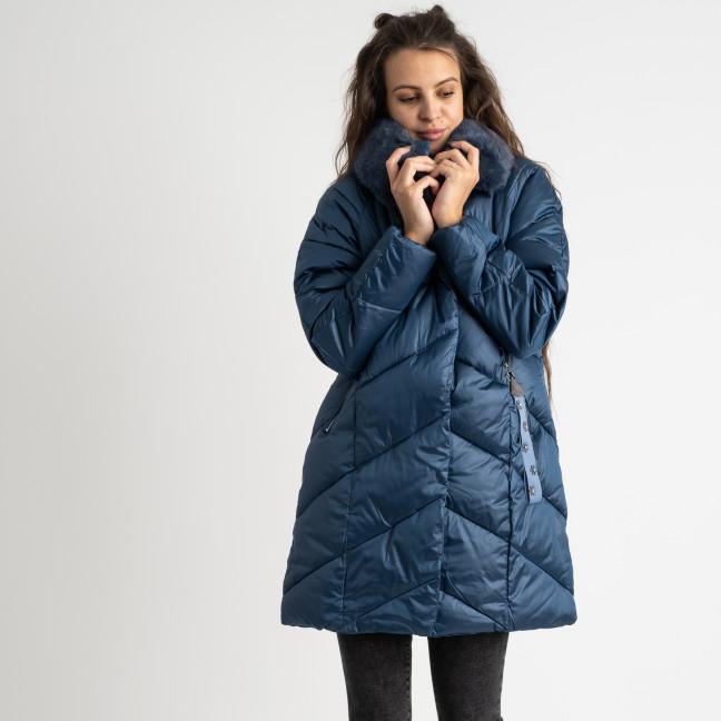 8801-1 синяя куртка женская на синтепоне (4 ед.размеры: M.L.XL.XXL) Куртка: артикул 1124553