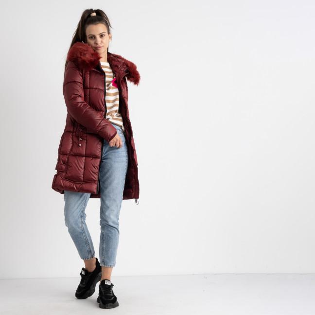 1983-4 бордовая куртка женская на синтепоне (5 ед.размеры: M.L.XL.XXL.3XL) Куртка: артикул 1124528