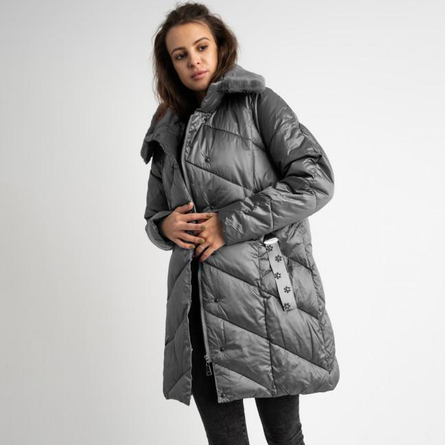 8801-5 серая куртка женская на синтепоне (4 ед. размеры: M.L.XL.2XL) Куртка: артикул 1124771
