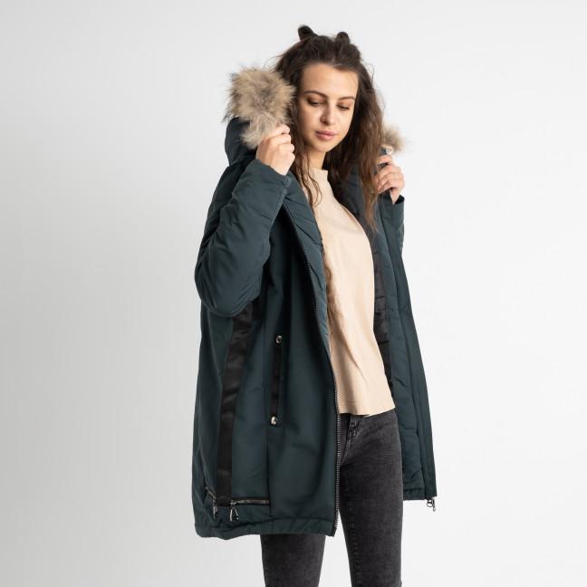 8633-3 Binyuyuan зеленая куртка женская  на синтепоне (5 ед.размеры: M.L.XL.2XL.3XL) Куртка: артикул 1124533
