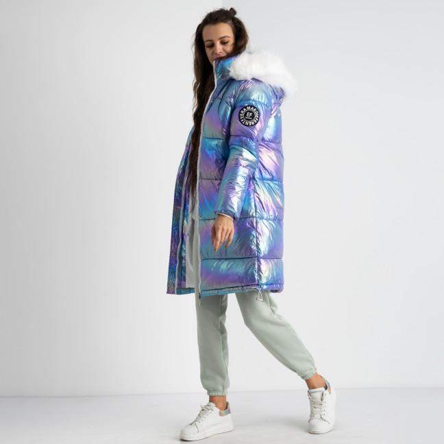 1963 Xueziyu голубая перламутровая куртка женская на синтепоне (4 ед.размеры: M.L.XL.XXL) Куртка: артикул 1124545