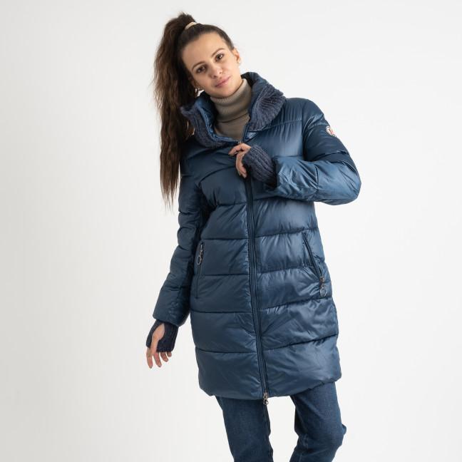 8802-2 голубая куртка женская на синтепоне (4 ед.размеры: M.L.XL.XXL) Куртка: артикул 1124557