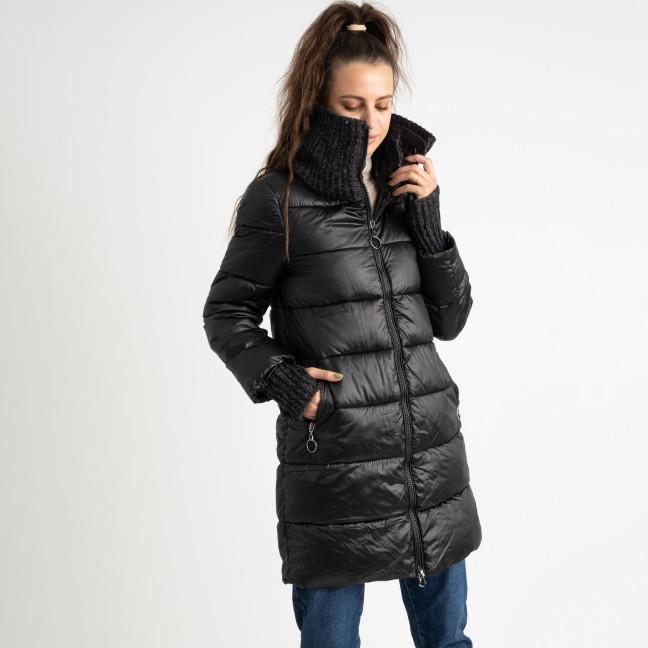 8802-1 черная куртка женская на синтепоне (4 ед.размеры: M.L.XL.XXL) Куртка: артикул 1124556