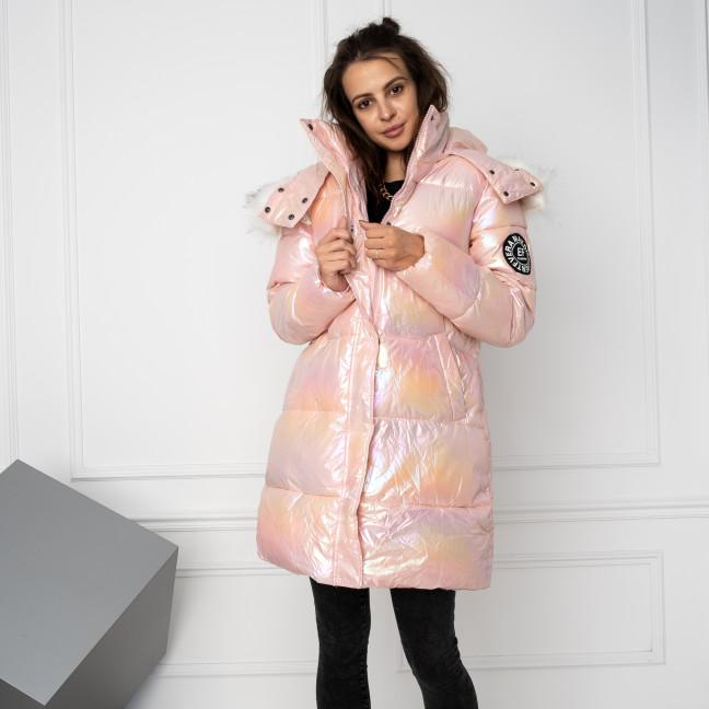 9039-2 розовая перламутровая куртка женская на синтепоне (4 ед.размеры: M.L.XL.XXL) Куртка: артикул 1124542