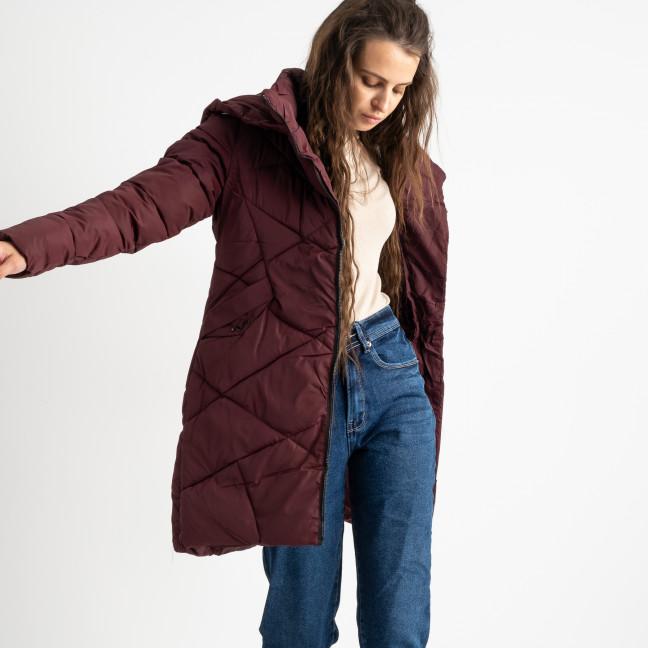 1919-3 Hongyifei бордовая куртка женская на синтепоне (4 ед.размеры: M.L.XL.XXL) Куртка: артикул 1124536