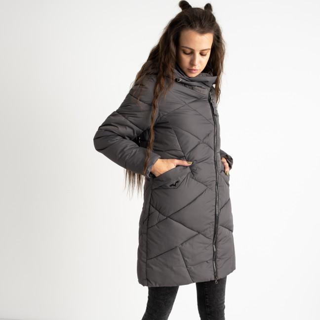 1919-1 Hongyifei серая куртка женская на синтепоне (4 ед.размеры: M.L.XL.XXL) Куртка: артикул 1124534