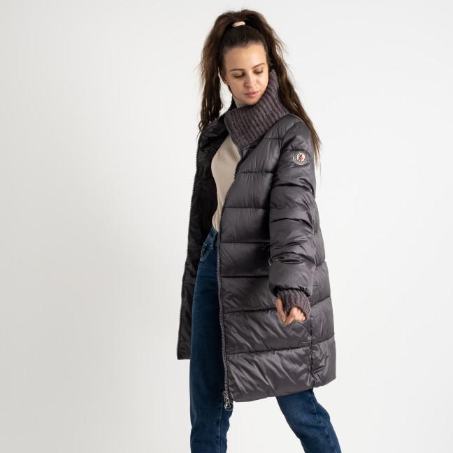 8802-4 серая куртка женская на синтепоне (4 ед.размеры: M.L.XL.XXL) Куртка: артикул 1124530