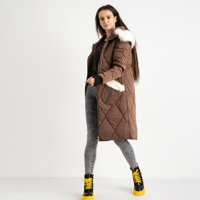 9915-2 коричневая куртка женская на синтепоне (4 ед.размеры: M.L.XL.XXL) Куртка: артикул 1124516