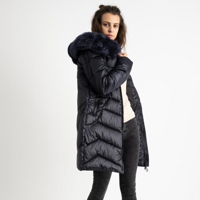 1985-2 L.Y.Xuege темно-синяя куртка женская на синтепоне (5 ед.размеры: M.L.XL.XXL.3XL) Куртка: артикул 1124520