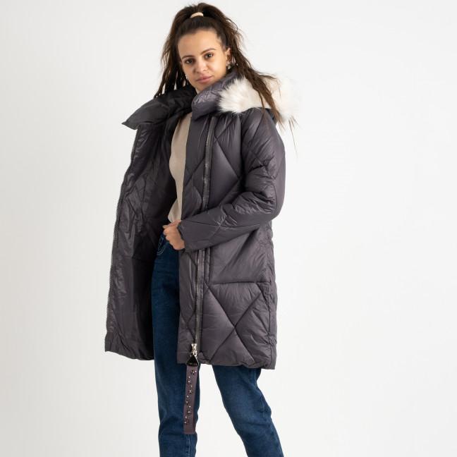 0833-1 Annagella серая куртка женская на синтепоне (4 ед.размеры: M.L.XL.XXL) Куртка: артикул 1124537