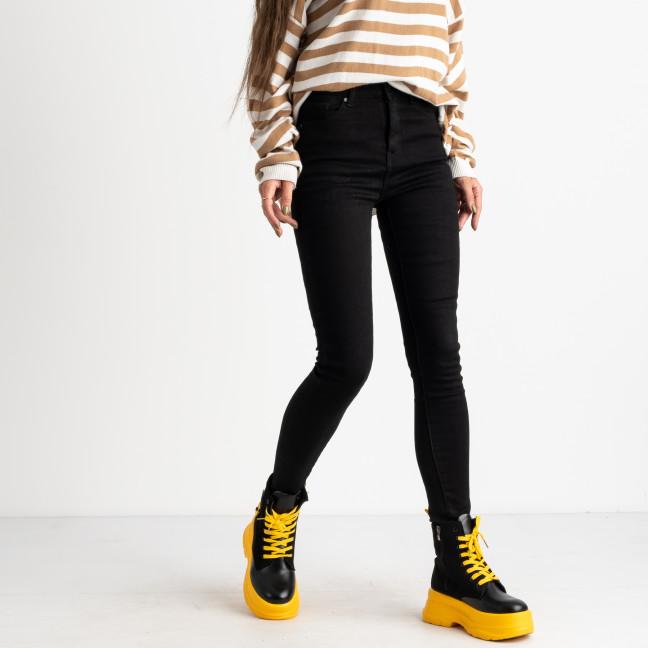6030 New Jeans американка на флисе черная стрейчевая (6 ед.размеры: 25.26.27.28.29.30) New Jeans: артикул 1124598