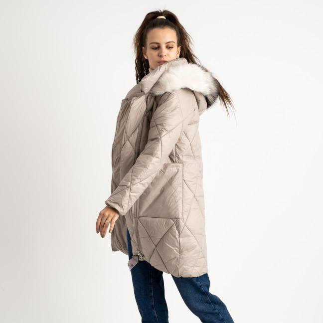 0833-2 Annagella бежевая куртка женская на синтепоне (4 ед.размеры: M.L.XL.XXL) Куртка: артикул 1124538