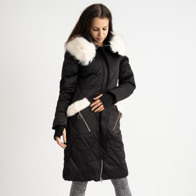 9915-1 черная куртка женская на синтепоне (4 ед.размеры: M.L.XL.XXL) Куртка: артикул 1124515