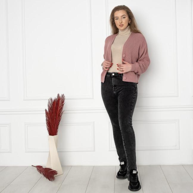 6018 New Jeans американка на флисе полубатальная серая стрейчевая (6 ед.размеры: 28.29.30.31.32.33) New Jeans: артикул 1124603