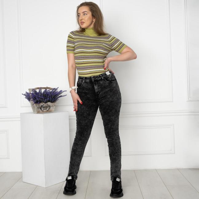 6029 New Jeans американка на флисе батальная серая стрейчевая (6 ед.размеры: 31.32.33.34.35.36) New Jeans: артикул 1124608