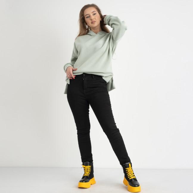 6032 New Jeans американка черная полубатальная стрейчевая на байке (6 ед.размеры: 28.29.30.31.32.33) New Jeans: артикул 1124606
