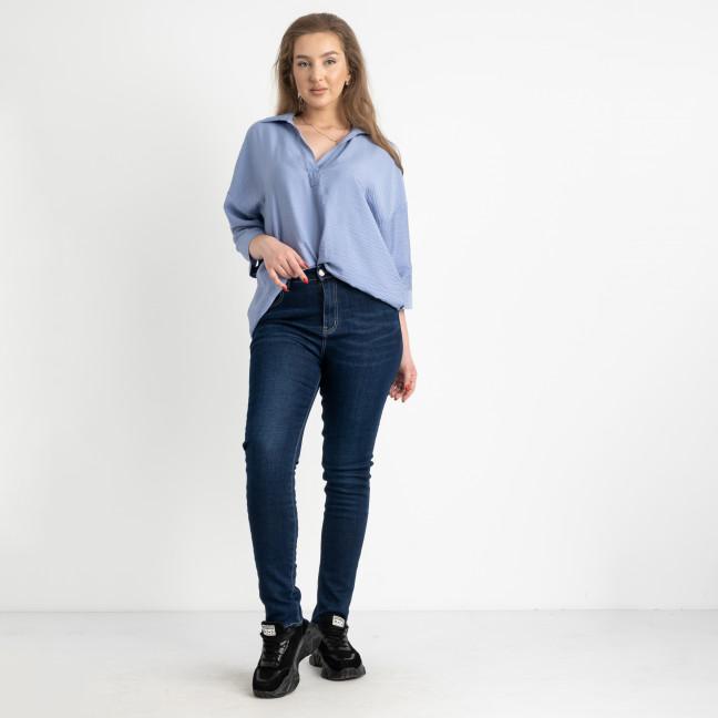6023 New Jeans американка синяя полубатальная стрейчевая на байке (6 ед.размеры: 28.29.30.31.32.33) New Jeans: артикул 1124604