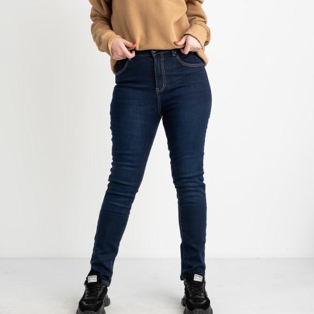 6042 New Jeans американка  на флисе батальная синяя стрейчевая (6 ед.размеры: 31.32.33.34.35.36) New Jeans: артикул 1124612