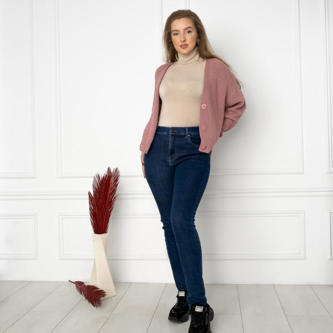 6022 New Jeans американка на флисе батальная синяя стрейчевая (6 ед.размеры: 31.32.33.34.35.36) New Jeans: артикул 1124611