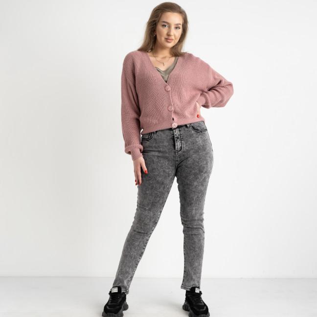 6047 New Jeans американка на флисе батальная серая стрейчевая (6 ед.размеры: 31.32.33.34.35.36) New Jeans: артикул 1124609