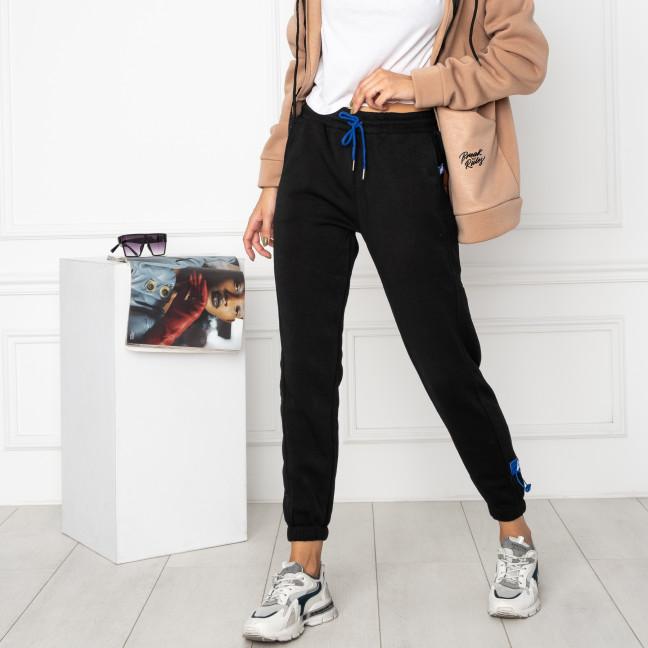 0010-1 черные спортивные штаны женские на флисе (6 ед.размеры: S.M.L.XL.XXL.3XL) Спортивные штаны: артикул 1124638