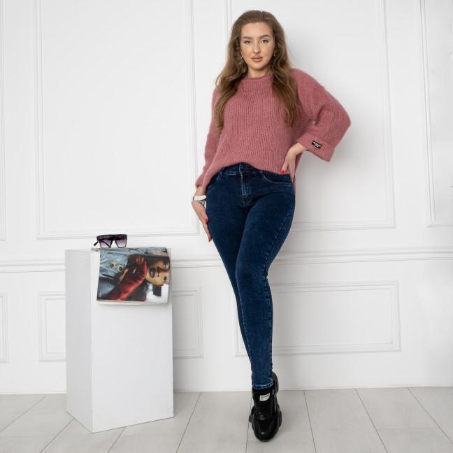 0848 KT.Moss джинсы женские полубатальные черные стрейчевые на флисе (6 ед.размеры: 28.29.30.31.32.33) KT.Moss: артикул 1124629