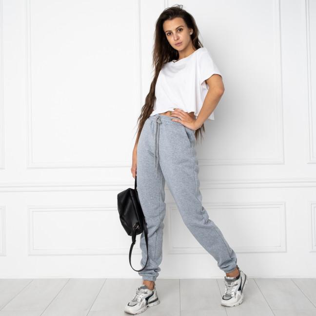 0020-6 серые спортивные штаны женские на флисе (4 ед.размеры: M.L.XL.XXL) Спортивные штаны: артикул 1124711