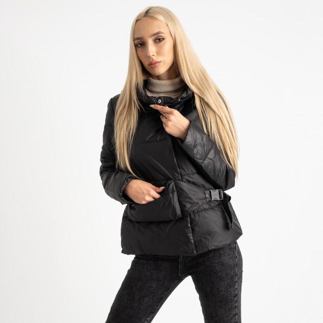 0887-1 черная куртка женская на синтепоне (4 ед. размеры: M.L.XL.2XL) Куртка: артикул 1124730
