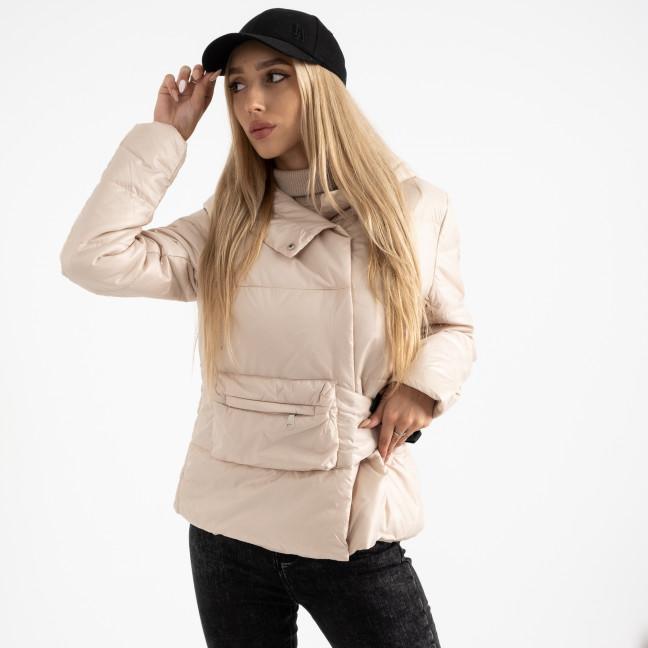 0887-4 бежевая куртка женская на синтепоне (4 ед. размеры: M.L.XL.2XL) Куртка: артикул 1124734