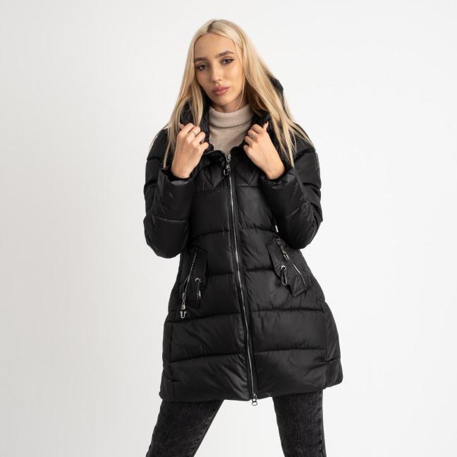 1906-1 черная куртка женская на синтепоне (4 ед. размеры: M.L.XL.2XL) Куртка: артикул 1124725